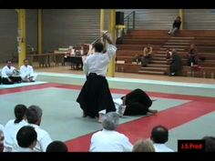 Aïkido - Christian Tissier Shihan. A little more intense than I'm used to, but great extension and energy.