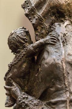 Hans Leinberger, Muttergottes, Bronze, um 1515, Detail