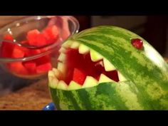 Watermelon carving is so much fun especially when you can carve Shark! Simply follow the instructions and gather the necessary materials and lets get started carving watermelons!