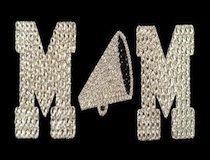 Cheer Mom Rhinestone & Glitter Window Sticker Decal