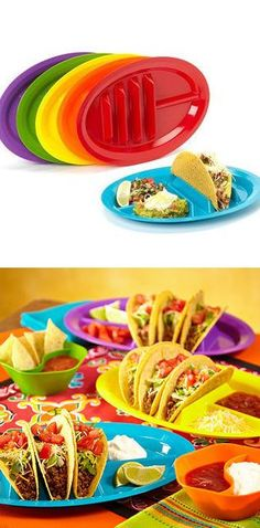 Taco Plate // stops tacos from tipping over & getting soggy!