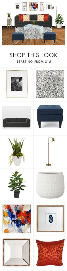 """""""Olee Living Room"""" by tara-scott-johnson on Polyvore featuring interior, interiors, interior design, home, home decor, interior decorating, Safavieh, West Elm, Nearly Natural and Lene Bjerre"""