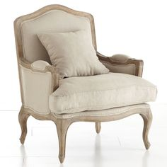 Wisteria - Furniture - Shop by Category - Chairs - Oak Gentleman's Chair Luxury Furniture, Furniture Decor, Bergere Chair, Ottoman, Upholstered Chairs, Living Room Chairs, Apartment Living, Decoration, Home Accessories