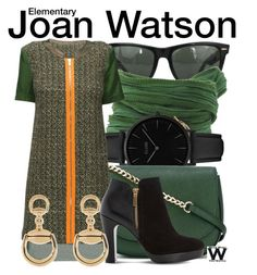 """""""Elementary"""" by wearwhatyouwatch ❤ liked on Polyvore featuring Ray-Ban, Catherine Michiels, CLUSE, MICHAEL Michael Kors, Lattori, Dune, Gucci, television and wearwhatyouwatch"""