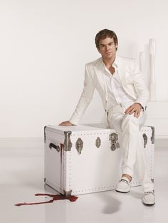 I appreciate the symbolism of white....and purity.  For Dexter.  Awesome.