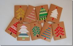 manualidades Tarjetas de Navidad, simples y bonitas