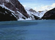 Eva Bartel, Lake Louise, November, watercolour Watercolor Landscape Paintings, Watercolour, Past, Competition, Contemporary, Artist, Artwork, November