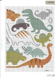 best Ideas embroidery designs for kids boys cross stitch Cross Stitch For Kids, Cross Stitch Baby, Cross Stitch Charts, Cross Stitch Designs, Cross Stitch Patterns, Crochet Dinosaur, Dinosaur Pattern, Hand Embroidery Designs, Embroidery Patterns