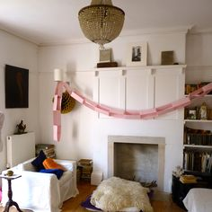 Giant paper chain from John and Julia de Pauley via bible of british taste.