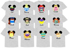 ~:~> PLEASE READ ALL LISTING DETAILS BEFORE ORDERING. <~:~>  Going to the most magical place on Earth soon? One of the fun things you will see around the parks are groups wearing matching shirts. Whether the purpose is for pictures, keeping your group together in the crowd or just for the fun of it; we are sure you will turn heads and have people asking where you got your shirts because they are so darn stinking cute!  At The Mouse Boutique we have lots of shirts to choose from, che...