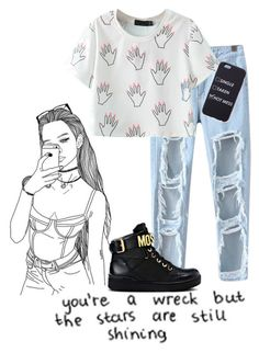 """""""Untitled #170"""" by jayla-gore on Polyvore featuring Chicnova Fashion and Moschino"""