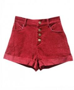 Vintage Corduroy Shorts with High Waist