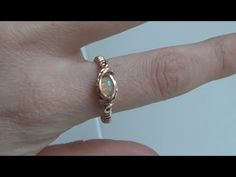 (26) Wire Wrapped Small Cabochon Ring Tutorial - YouTube