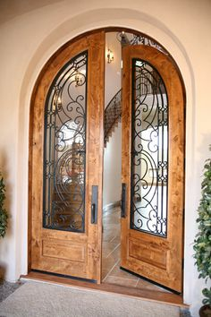 Grand Entrances – San Diego's Finest Custom Entry Doors- Gra… – Door Ideas Wooden Main Door Design, Front Door Design, Iron Front Door, Iron Doors, Arched Doors, Entry Doors, Entrance Gates, Grand Entrance, San Diego