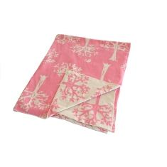 Orchard Blanket in Pink and Beige $35