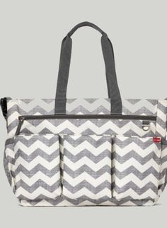 Skip Hop Duo Double Signature Carry All Travel Diaper Bag Tote with Multipockets, One Size, Chevron - Perfect fit and easy to use.This Skip Hop that is ranked 6 Boy Diaper Bags, Diaper Bag Backpack, Tote Bag, Chevron Gris, Stroller Bag, Changing Bag, Wholesale Bags, Bag Sale, Twins