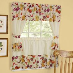 Summer Fruit Kitchen Curtains