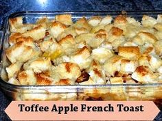 Theresa's Mixed Nuts: Toffee Apple French Toast