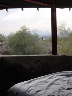 View from desert structure, Frank Lloyd Wright School of Architecture, Taliesin West, Scottsdale, AZ    franklloydwright.org