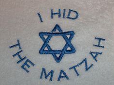 Embroidered+Passover+I+Hid+The+Matzah++bib+Jewish+by+ezembroidery,+$9.99