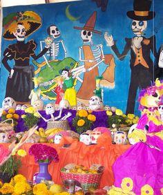 Peri dico mural on pinterest murals ideas para and for Dia de los muertos mural