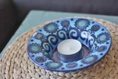 Old Arabia bowl by Hilkka-Liisa Ahola as a candle holder