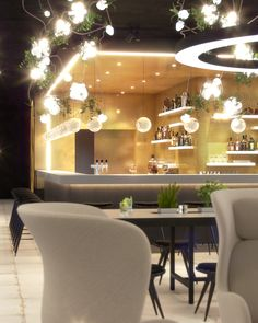 visualization of multi functional space in hotel Mooons in Vienna. Restaurant, lobby and working space. Vienna Restaurant, Hotel Interiors, 3d Visualization, Table Decorations, Space, Furniture, Home Decor, Floor Space, Decoration Home