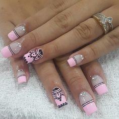 Nail Art Designs, Eyeliner, Hair Beauty, Nails, Makeup, Women, Diva Nails, Colorful Nails, Nail Bling