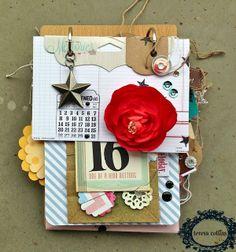 TERESA COLLINS DESIGN TEAM: No. 16 Mini Album by Dedra Long