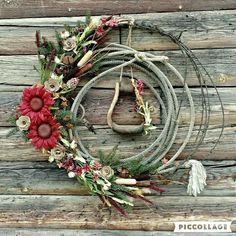 without the stirrup thou Rope Crafts, Wreath Crafts, Fall Crafts, Christmas Crafts, Christmas Decorations, Christmas Games, Xmas, Cowboy Crafts, Western Crafts