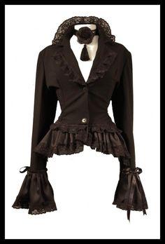 jacket w/bustle (front)