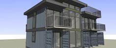Modular Homes: BC Designers Turn Shipping Containers Into Houses Sea Container Homes, Building A Container Home, Container Buildings, Container Architecture, Container House Plans, Container House Design, Container Houses, 40 Container, Shipping Container Home Designs