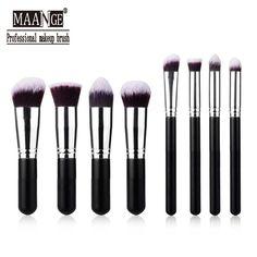8 PCS professional makeup brushes Set cosmetics beauty Make Up Brush Women foundation brush Kits kabuki powder brushes of makeup