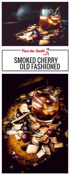 A smooth nostalgic libation for those who are looking to sip things slow, the Smoked Cherry Old Fashioned Craft Cocktail Recipe {wine glass writer} Mezcal Cocktails, Smoked Cocktails, Cocktail Drinks, Bourbon Drinks, Bourbon Recipes, Liquor Drinks, Cocktail Ideas, Winter Cocktails, Craft Cocktails