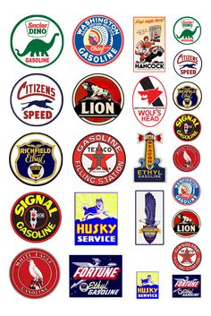 G scale model toy car vintage gasoline gas station auto service center Vintage Labels, Vintage Signs, Vintage Ads, Pompe A Essence, Old Gas Stations, Retro Logos, Old Signs, Train Layouts, Logo Sticker