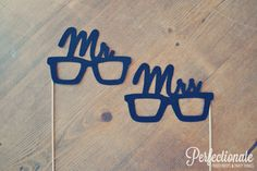Newlywed Glasses Felt Photo Props // The Mr. and by Perfectionate