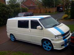 Pics of white van with vinyl stripes - VW Forum - VW Forum Volkswagen Transporter T4, Vw T5 Forum, T4 Camper, White Vans, Vw Cars, Campervan, Van Life, Dream Cars, Stripes