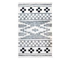 Carpet Wool Pattern - black/white