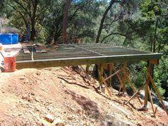 Building a 24' x 20' deck on steep slope | Garten | Pinterest | Decks ...