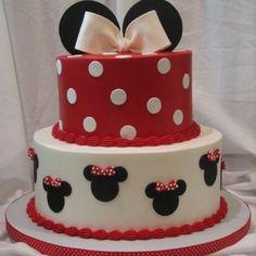 Minnie Mouse cake @Anjela Rosado!! obesssed