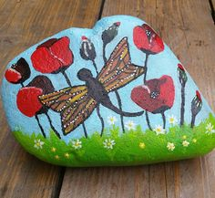 #painted this #rock for the #birthday of aunt Marina... she is the sister of my grandfather and when my sister and I where little we always loved being there... it has been years since I was there for the last time... and now Saar was there for the first time... she loved it just as much as me when I was little loved to see that! #paintedpebbles #paintedstones #paintedrocks #rockpainting #relaxing #calming #zen #acrylics #acrylverf #paint #painting #schilderen #artwork #peaceofmind #rust…