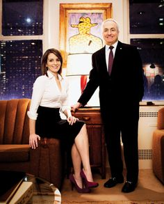 Tina Fey and Lorne Michaels