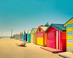 Well if these aren't the happiest of beach cottages!