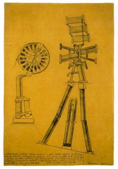 """Self Constructed Small Machine"" 1920 printer block and ink on paper - Max Ernst destruction of human subjectivity"