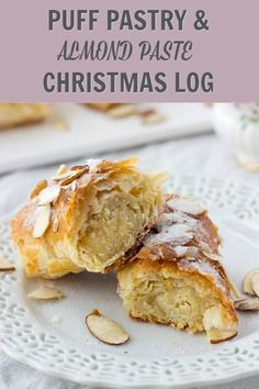 Banketstaaf (Dutch Christmas Log) – Lavender & Macarons This Puff Pastry And Almond Paste Christmas Log is a twist on traditional Dutch Banket recipe. Quick to make and so delicious. Easy pastry recipe perfect for Christmas dessert. Easy Pastry Recipes, Dutch Recipes, Almond Recipes, Baking Recipes, Amish Recipes, Pastries Recipes, Dutch Desserts, Puff Pastry Desserts, Just Desserts