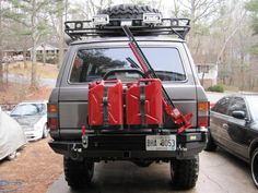 Toyota Land Cruiser fj60 fj62 bumpers and roof rack