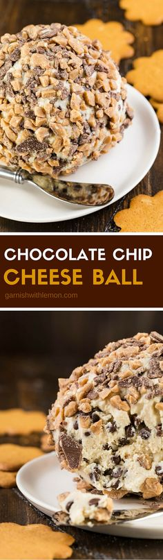 Need a sweet to share? This Chocolate Chip Cheese Ball is the perfect dessert for any gathering made with pantry staples.