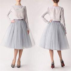 Clearbridal Women's 50s Vintage Tulle Petticoat Tutu Skir…