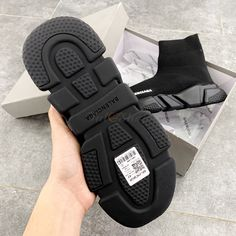Giày Sneaker Balenciaga Speed Trainer All Black - Đen Rep Balenciaga Speed Trainer, Pool Slides, Bordeaux, All Black, Trainers, Sneakers, Tennis, Tennis, Slippers