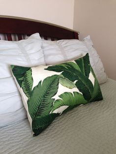 Swaying Palms Lumbar Pillow Cover 14 x 28  by RHCollection on Etsy